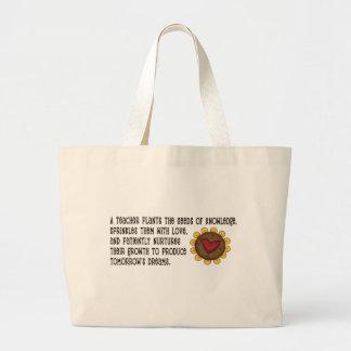 Seeds of Knowledge Teacher Jumbo Tote Bag