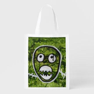 Seedy Pete Cute Skull Monster Watermelon Green Art