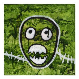 Seedy Pete Skull Monster Original Art Photo Print