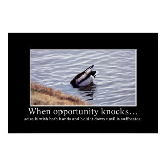 Seize opportunity with both of your hands [XL] Poster