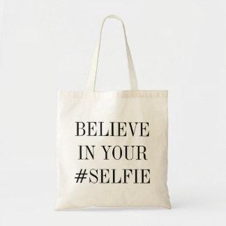 #SELFIE BUDGET TOTE BAG