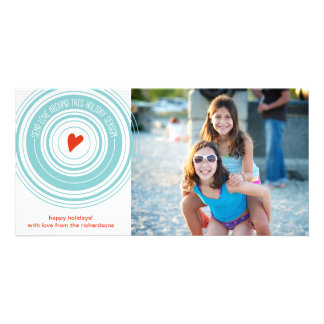 Send Love Around Personalised Photo Card