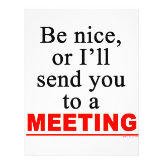 Send You To A Meeting Sarcastic Office Humor 21.5 Cm X 28 Cm Flyer