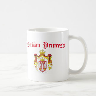 Serbian Princess (with Serbia Coat of Arms) Basic White Mug