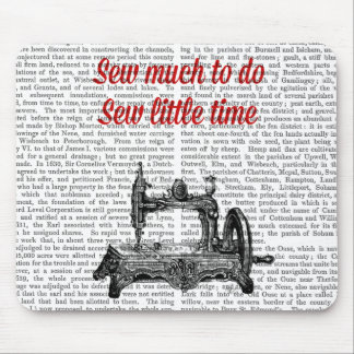 Sew Little Time Illustration Mouse Pad