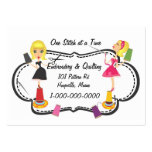 Sewing & Embroidery Pack Of Chubby Business Cards