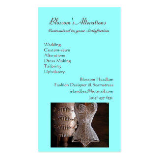 sewing.jpg, Blossom's Alterations, WeddingCusto... Pack Of Standard Business Cards