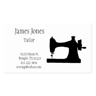 Sewing Machine Tailor Business Card