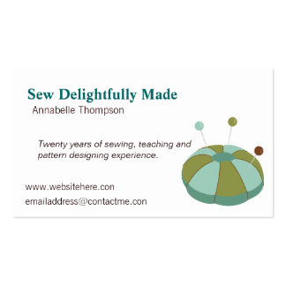 Sewing Pin Cushion Business Card