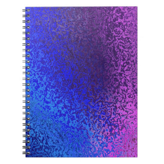 Shades of Blue and Purple Spiral Binder Notebooks