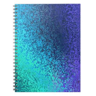 Shades of Blue Spiral Binder Spiral Note Book