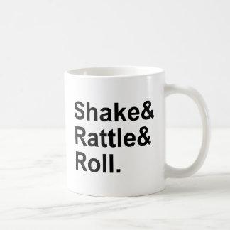Shake Rattle & Roll | Spirit of Rock N' Roll Music Basic White Mug