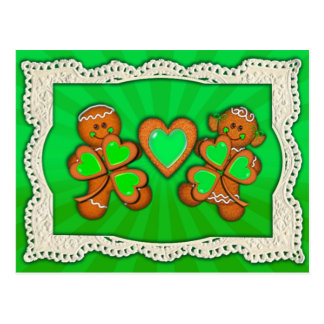 SHAMROCK KIDS, HEART & LIGHT RAYS by SHARON SHARPE Postcard