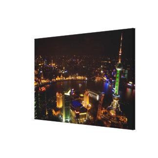 Shanghai China wonderful skyline with modern Canvas Print