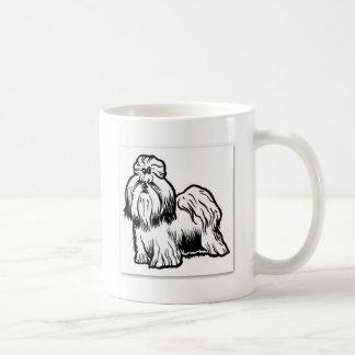 shih tzu basic white mug