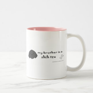 ShihTzuBlkBrother Two-Tone Mug