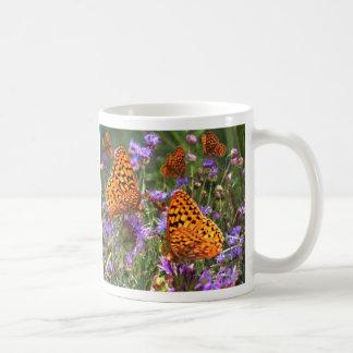 Shimmery Fritillary Basic White Mug