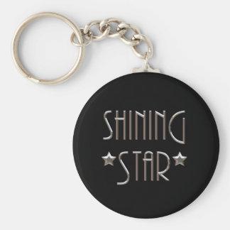 Shining Star Basic Round Button Key Ring