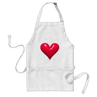 Shiny Red Heart Apron