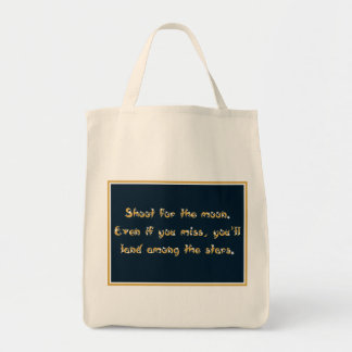 Shoot for the Moon totebag Grocery Tote Bag
