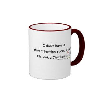 Short Attention Span Chicken Ringer Mug