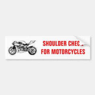 Shoulder Check for Motorcycles bumper sticker