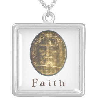 Shroud of Turin gifts Square Pendant Necklace