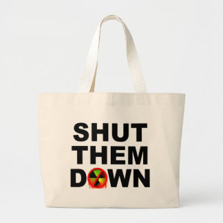 Shut Them Down No Meltdowns Slogan Jumbo Tote Bag