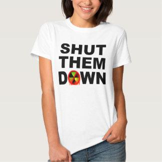Shut Them Down No Meltdowns Slogan Tee Shirt