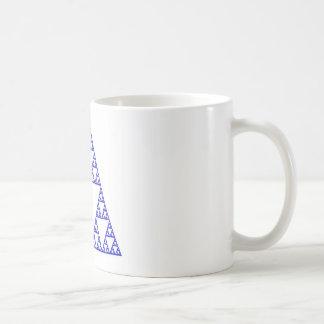 Sierpinski triangle basic white mug
