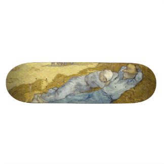 Siesta after Millet by Vincent Van Gogh Skateboard