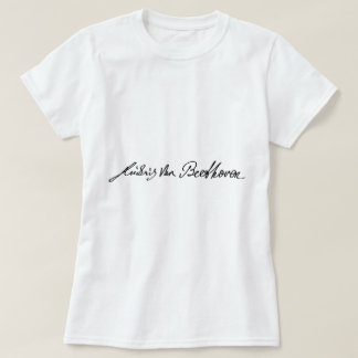 Signature of Musician Ludwig van Beethoven Tshirts