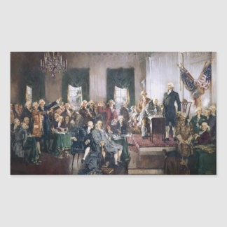 Signing the US Constitution by Christy Rectangular Sticker