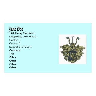 silbernagelcoatofarms, Jane Doe, 123 Cherry Tre... Pack Of Standard Business Cards
