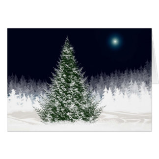 Silent Night Holiday Card Christmas Xmas