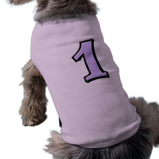 Silly Numbers 1 lavender Dog T-shirt
