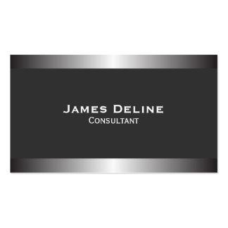 Silver Classic Elegant Business Card Template