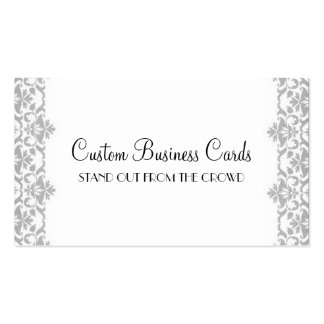 Silver Damask Pack Of Standard Business Cards