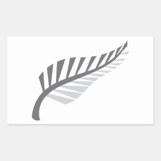 Silver Fern Awesome New Zealand image Rectangular Sticker