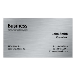 Silver Professional Elegant Metal Modern Plain Pack Of Standard Business Cards