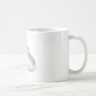 Silver Wedding Bands Save the Date Basic White Mug