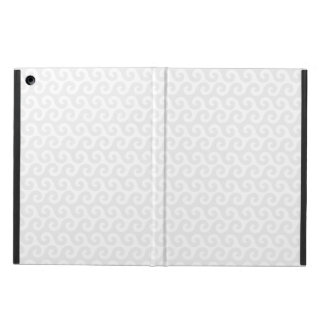 Silver & White Waves - Stylish & Fun Pattern iPad Air Cases