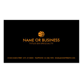 simple basketball pack of standard business cards