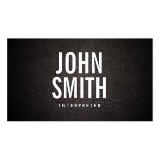 Simple Bold Text Interpreter Business Card