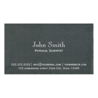 Simple Chalkboard Physical Scientist Business Card