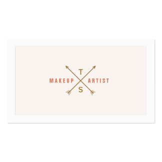 Simple Elegant Makeup Artist Light Pink and Peach Pack Of Standard Business Cards