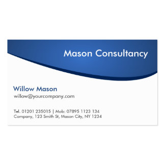 Simple Generic Blue and White Curved Business Card
