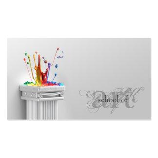 Simple Grey School Of Art - Art Teacher Card Pack Of Standard Business Cards
