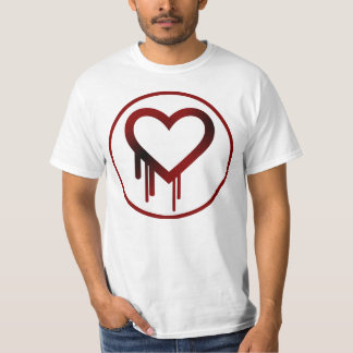 Simple Heart Bleed Sticker Type Patch Tees