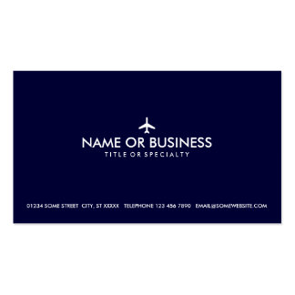 simple plane pack of standard business cards